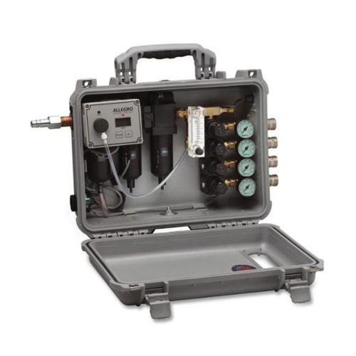 Allegro® Carry-Air™ 9874-MR Multi-Regulator Filtration Panel, 60 cfm, 125 psig, 4 Worker, W/16 ga Steel Stand