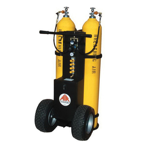 AIR® MP-2300ENB Cylinder Air Cart, Holds 2 Cylinders of 4500 psi