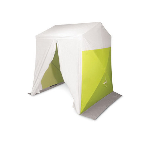 Allegro® 9402-88 2 DoorDeluxe Work Tent, 8 ft L x 8 ft W x 7.5 ft H, Polyester, High-Visibility Green/White