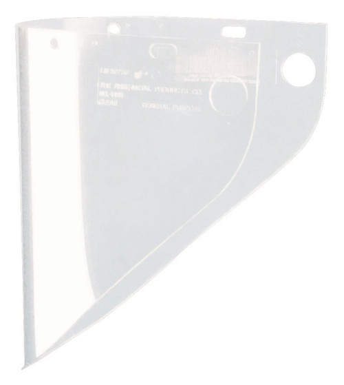 Fibre-Metal® 4199CL Extended View Faceshield Window, 9-3/4 in H x 19 in W x 0.06 in THK, Propionate, Clear