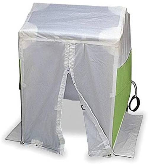 Allegro® 9401-66 1 Door Deluxe Work Tent, 6 ft L x 6 ft W x 6.5 ft H, Polyester, High-Visibility Green/White