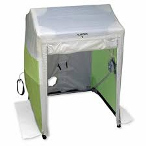 Allegro® 9401-88 1 Door Deluxe Work Tent, 8 ft L x 8 ft W x 7.5 ft H, Polyester, High-Visibility Green/White