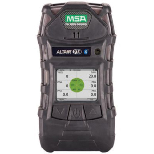 MSA Altair® 5X A-ALT5X-ALK0100C010 Multi-Gas Detector, 0 to 1999 ppm CO, 0 to 200 ppm H2S, 0 to 30% O2, 1 to 100% Pentane LEL