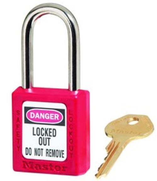 "Lockoout lock, Black 1.5"" Shackle, Steel,KD"