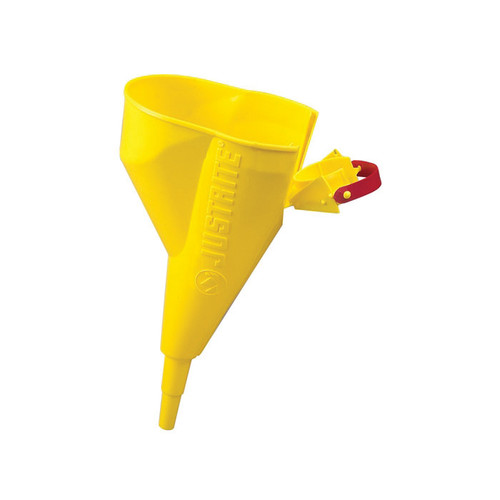 Justrite® 11202Y Funnel for Steel Type I Safety Cans, Polypropylene, Yellow