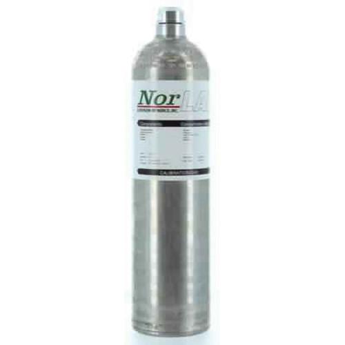 Norco G105320PM1 Reactive Calibration Gas, 20 ppm H2S, 60 ppm CO, 1.45% CH4,(58% Pentane Simulant), 15% Oxygen Balance N2