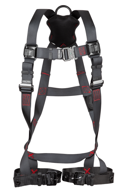 FT-Iron 1D Standard Non-Belted Full Body Harness, Tongue Buckle Leg Adjustment - 2X/3X