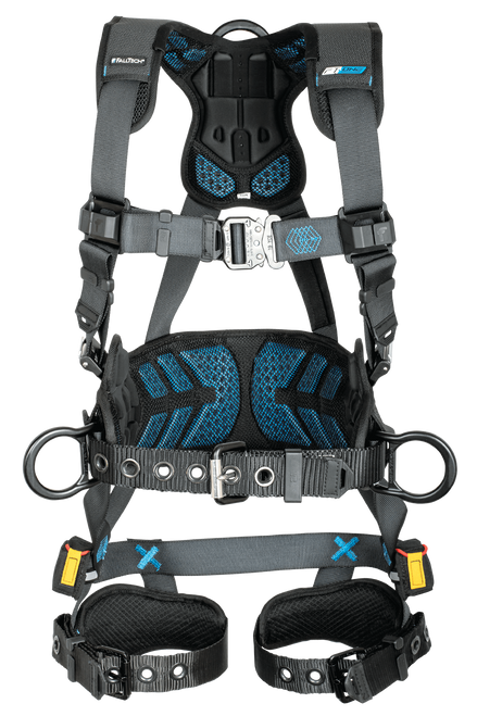 FT-One™ 3D Construction Belted Full Body Harness, Tongue Buckle Leg Adjustments - L