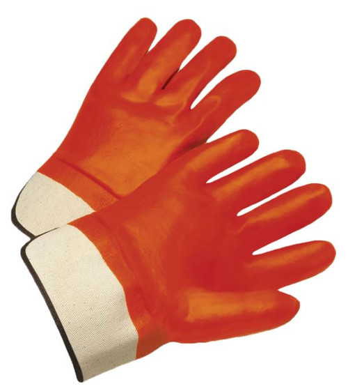 Insulated PVC Dipped Glove with Jersey Liner and Smooth Finish - Rubberized Safety Cuff Size Large
