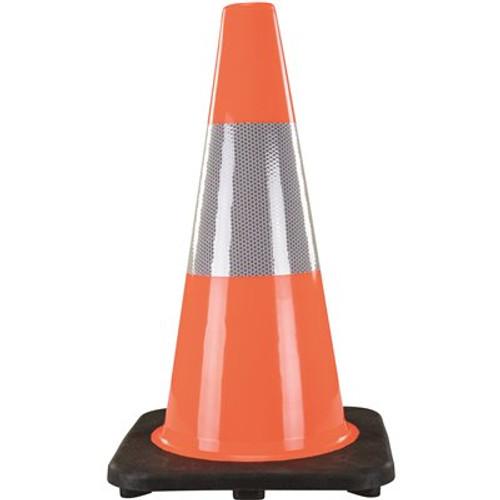 18 In Traffic Cone W Refl Stripe Orange