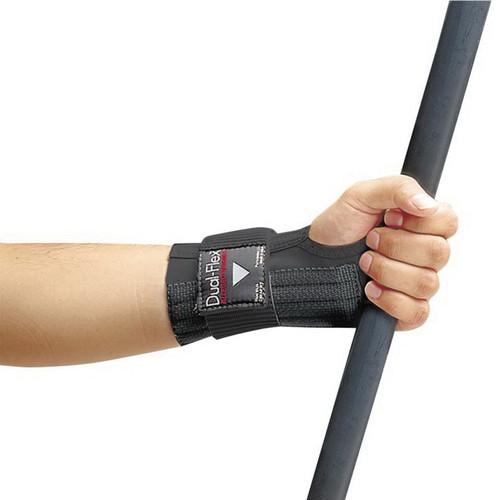 Dual-Flex™ 7212-03 Wrist Support, L, Nylon, Black