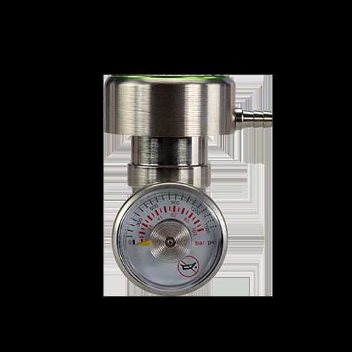 """Regulator Demand Flow C Low Pressure Inlet 0-1000 Psig 5/8-18Unf Inlet 3/16"""" Hosebarb Outlet"""