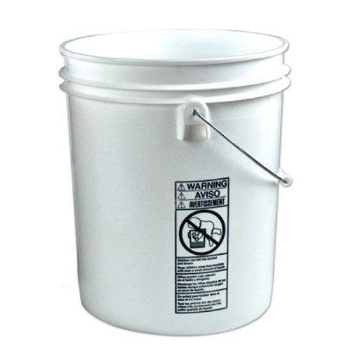 US Plastic Corp Letica® 3826 Standard Bucket, 5 gal, HDPE, White - 3826