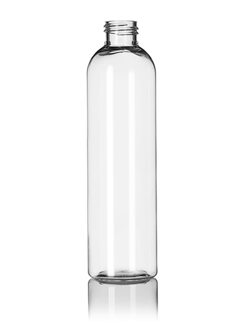Container and Packaging Supply B311CL Round Cosmo Bottle, 8 oz, PET, Clear - B311CL