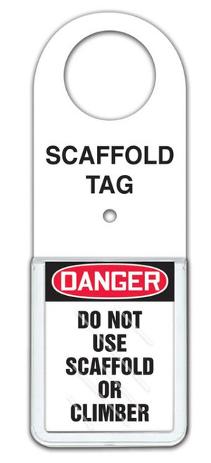 Scaffold Status Tag Holder: Do Not Use Scaffold Or Climber