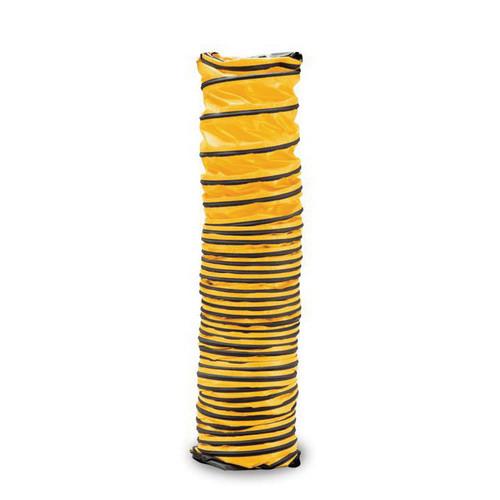 Allegro® 9600-25 Retractable Ventilation Duct, 16 in Dia x 25 ft L, Vinyl/Polyester, Yellow/Black