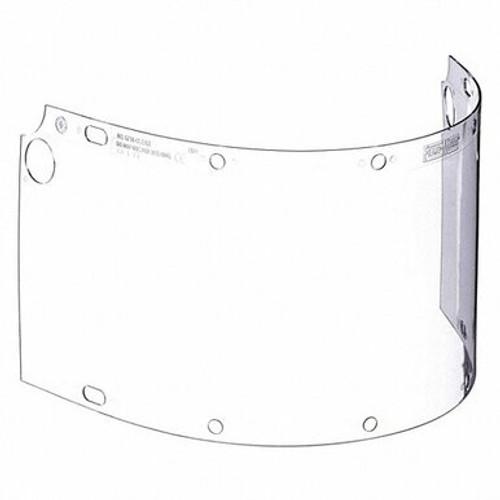 Fibre-Metal® 6750CL Wide Vision Faceshield Window, 8 in H x 16-1/2 in W x 0.06 in THK, Propionate, Clear