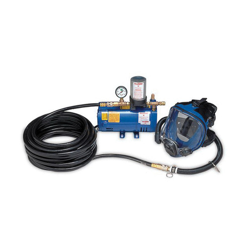 Allegro® 9200 Series Supplied Air Low Pressure One Worker Full Mask System, W/1/4 hp Pump, Respirator, Breathing Tube, 50 ft Hose