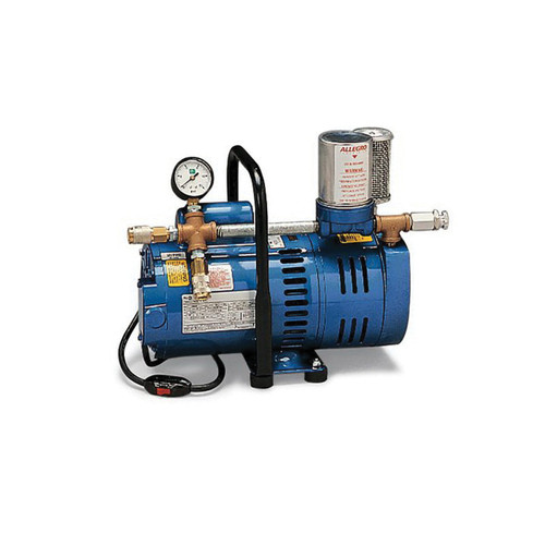 Allegro® A-750 Series Oil-Less Rotary Vane Breathing Air Pump, 115/230 VAC, 9.05 A, 2 to 12 psi, OBAC Quick Connect