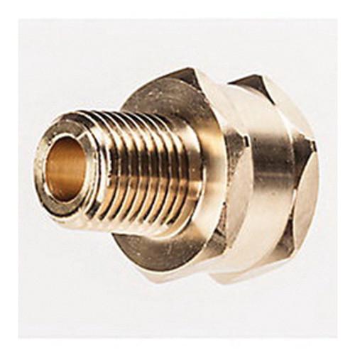 MSA 69542 Quick-Disconnect Union Adapter, 1/4 in MNPT x 3/4 in MHT, Brass for MSA Air-Line Respirators