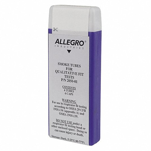 Allegro® 2050-01 Replacement Smoke Tube, 6 Pieces, Glass for Standard Smoke Test Kits, 6/Box