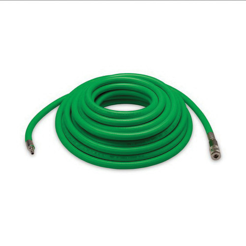 Allegro® 2029 Airline Hose, 3/8 in ID x 19/32 in OD x 50 ft L, 1/4 in Quick Connect, Polyvinyl/Polyester, Green