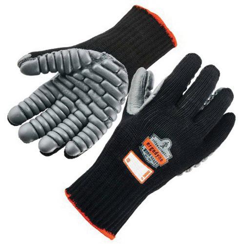 ProFlex® 9000 Lightweight Anti-Vibration Gloves, M, Chloroprene Rubber Palm Pad, Cotton/Nylon Knit, Black