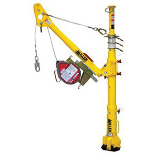 Miller® DuraHoist™ DH-AP-1/ Telescoping Portable Fall Arrest Post, 54-1/2 in Height, Aluminum/Zinc Plated Steel