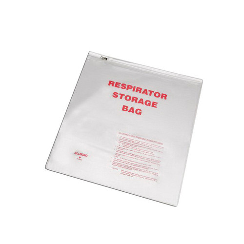 Allegro® 2000 Reusable Respirator Storage Bag, 16 in H x 14 in W, Poly, Clear for Half Mask and Full Mask Respirators