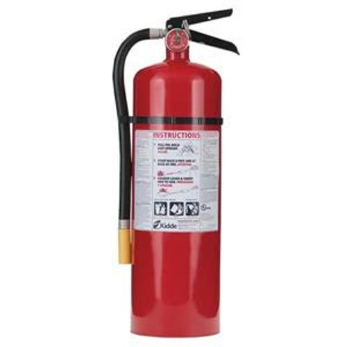 """Fire Extinguisher w/ Wall Hook, 10lb - Dimensions: 19 1/2""""H x 8 3/16""""W x 5 1/4""""D"""