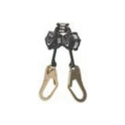 MSA V-SHOCK™ 64111-00F Twin Leg Mini Personal Fall Limiter, 310 lb Load Capacity, 6 ft