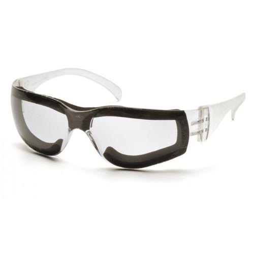 Pyramex® Intruder® S4110STFP Scratch-Resistance Lightweight Safety Glasses, Universal, Black Frame, Clear Anti-Fog Lens