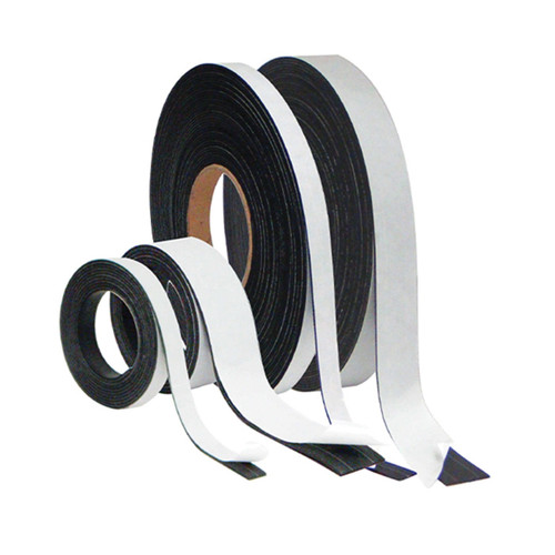 MasterVision® FM2321 Adhesive Magnetic Tape Roll, 50 ft L x 1/2 in W, Black