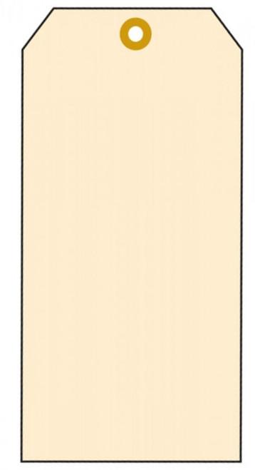 "Tags, blank manilla cardstock 3/4"" x 2 3/8 ""  100/pk  w/12"" wire"