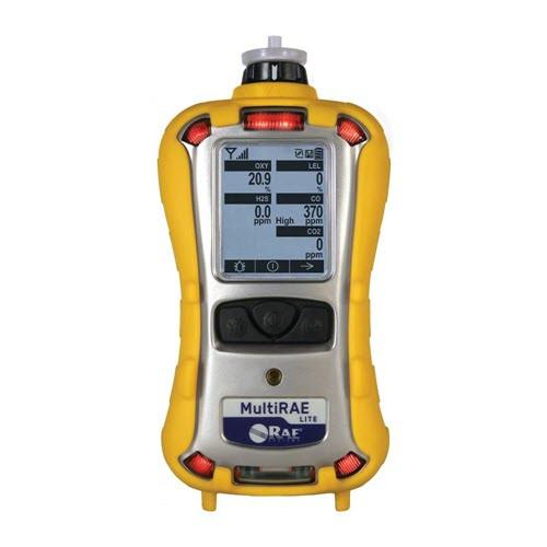 MultiRAE Lite: pumped, 10.6 eV PID, LEL, H2S, CO, O2, wireless
