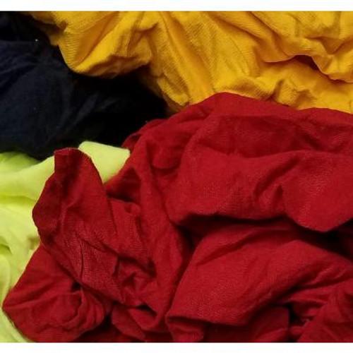 Erie Cotton 30001 Colored T-Shirt Rags, 25 lb, Cotton, Compressed Box