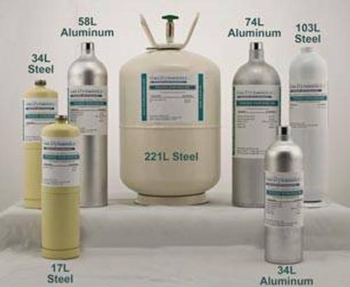 Regulator for 34, 58, 103, 116 Liter Aluminum Cylinders, 0.5lpm