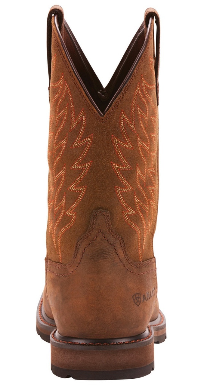 Ariat® Men/'s Groundbreaker H20 Square Toe Brown Work Boots 10024984