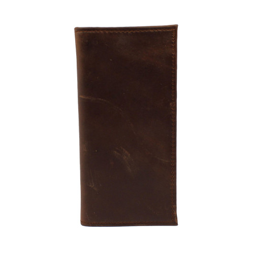 3D Rodeo Wallet -Dark Brown Distressed Leather