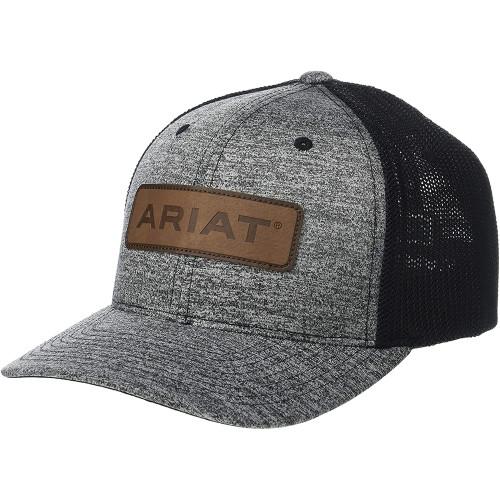 Men's Ariat Flexfit with Ariat Logo Patch Cap - Black