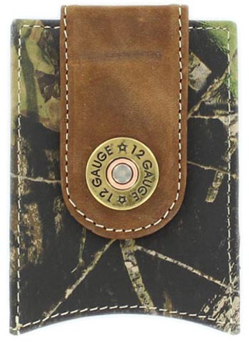 Nocona Men's Shotgun Shell Money Clip Wallet - Mossy Oak
