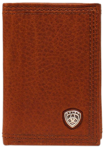 Ariat Men's Tri-fold Wallet w/ Shield - Sunshine