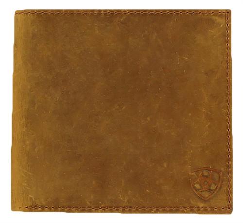 Ariat Large Shield Stamp Bifold Wallet - Medium Brown