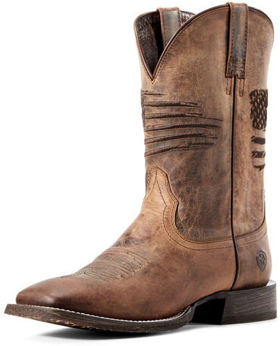 Ariat Men's Circuit Patriot Cowboy Boots - Weathered Tan