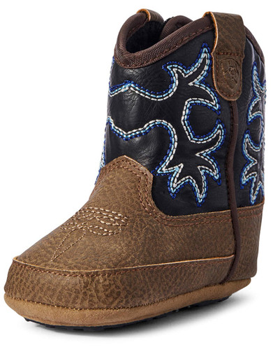 Ariat Lil' Stompers Infant Warren Cowboy Boots - Medium Brown