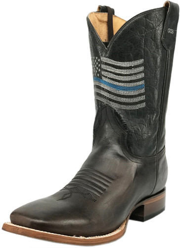 Roper Men's Concealed Carry Thin Blue Line Sidewinder Cowboy Boots - Brown
