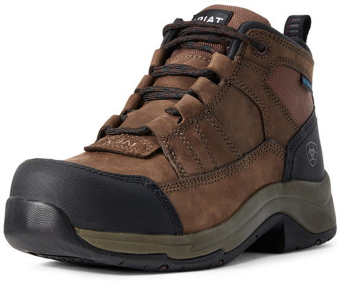 Ariat Women's Composite Toe H20 Telluride Lace Up Work Boots - Distressed Brown
