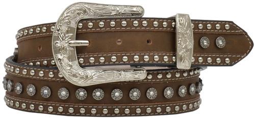 Women's Angel Ranch Luger Gunshell Belt - Brown