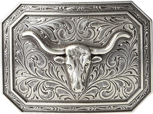 Ariat Rect. Smooth Edge Longhorn Buckle
