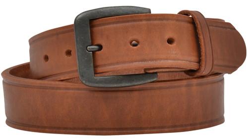 "3D Belt Co. Men's 1 1/2"" Harness Creased Edge Belt - Tan"